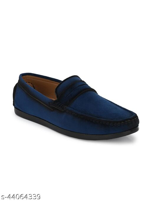 Guava Charming Velvet Casual Loafer Shoes - Blue