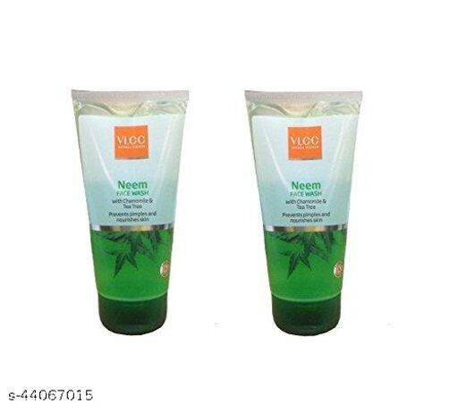 VLCC Neem Face Wash with Chamomile and Tea Tree, 150ml (Buy 1 Get 1 Free)