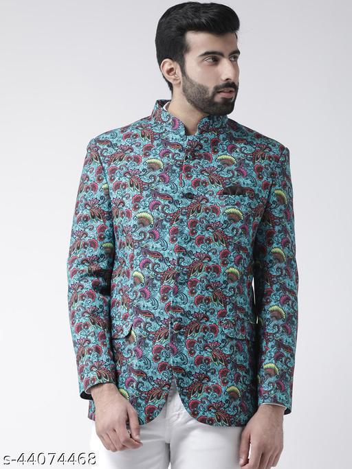 Hangup Men's Formal Blazer Multi Polyester Viscose Regular fit