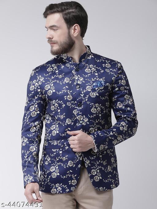 Hangup Men's Party Blazer Multi Polyester Viscose Regular fit