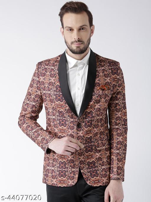 Hangup Men's Party Blazer Multi Polyester Regular fit