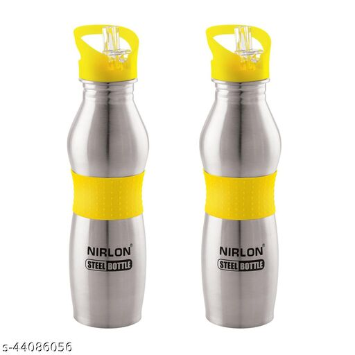 NIRLON STAINLESS STEEL, WATER BOTTLE,COMBO USE FOR,HOME,KITCHEN,OFFICE,PACK OF 02,700ML