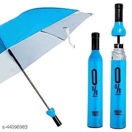 Windproof Double Layer Foldable Umbrella with Bottle Cover Umbrella for UV Protection & Rain - 1pcs (Multicolor)