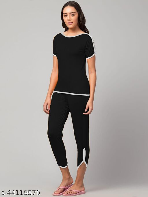 Casual night wear bottom and tops for women