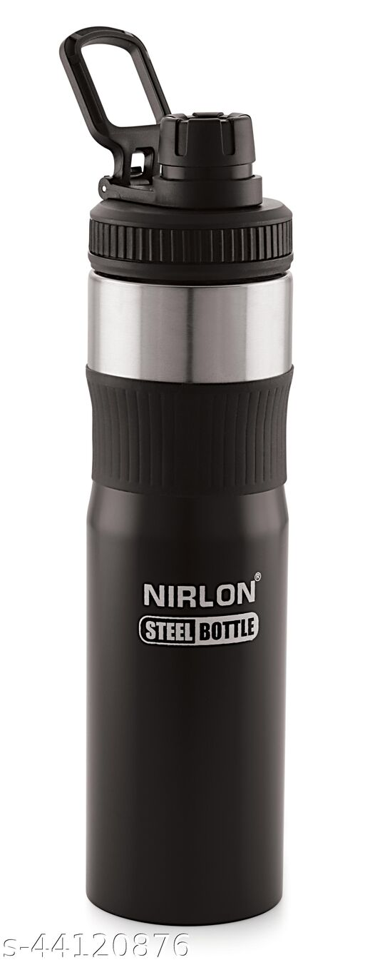 NIRLON BLACK COLOUR WATER BOTTLE COMBO USE FOR HOME AND OFFICE,PACK OF 01,750ML