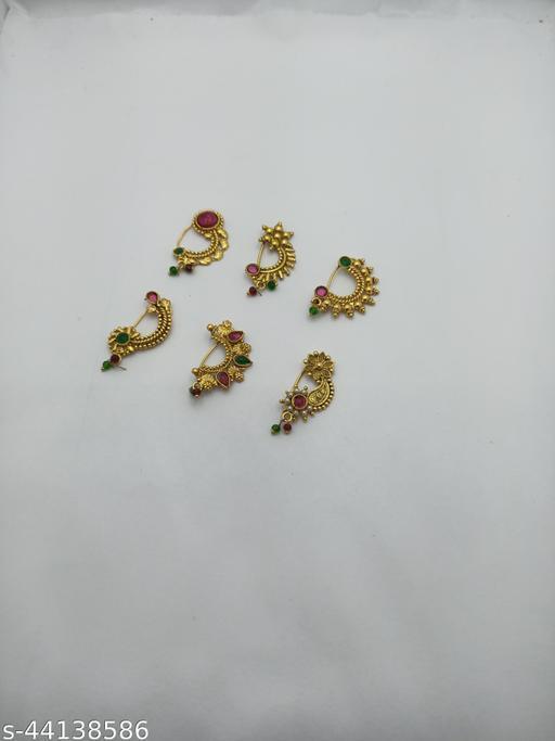 Shimmering Graceful Nosepins