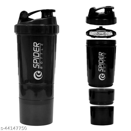 Spider Protein Shaker Water Bottle Sipper for Gym - 500 ML ( Assorted )