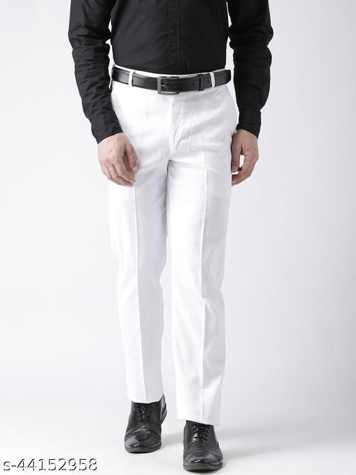 Hangup Men's Formal White Trouser