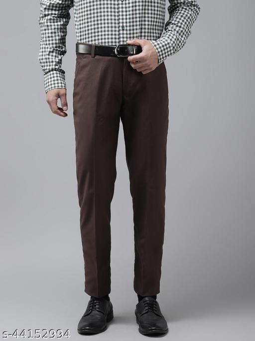 Hangup Men's Formal Brown Trouser