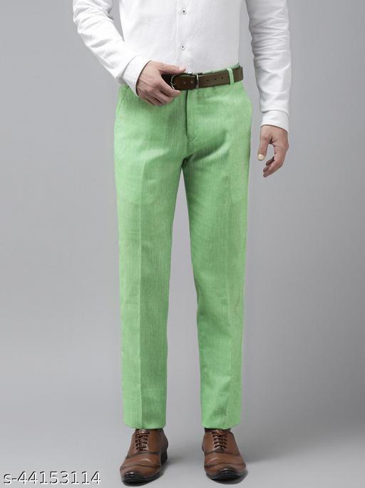 Hangup Men's Formal Green Trouser
