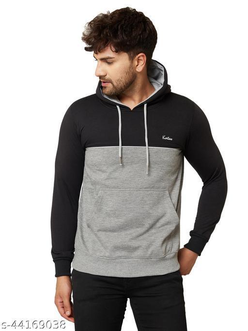 Kvetoo Men Sweatshirt Winter Full Sleeve Hoodies