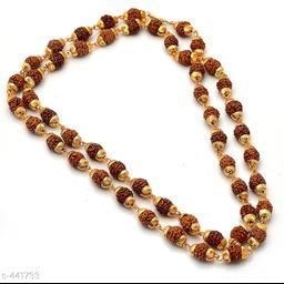 Trendy Alloy Rudraksha Mala Chain