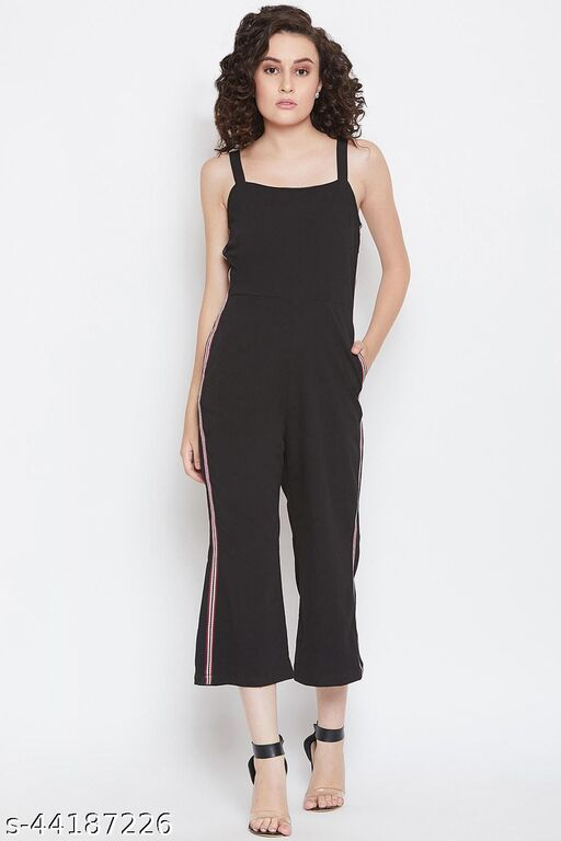 Black Jumpsuit With Colourful Tape