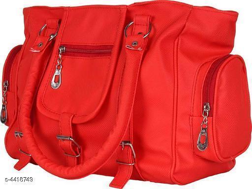 Beautiful Women's Red Faux Leather/Leatherette Handbag