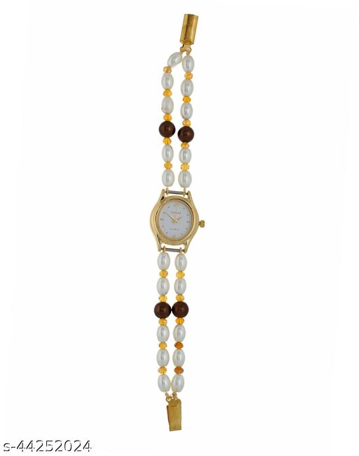 classique designer jewellery pearls watches for girls