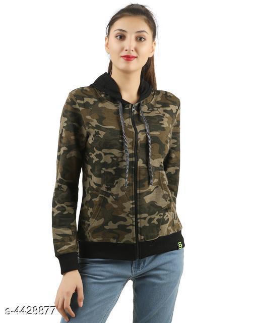 Stylish Women's 100% Cotton Sweatshirt