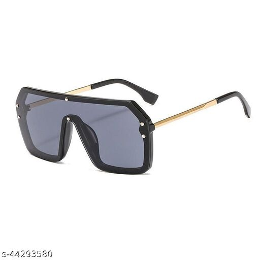 golden black b2 stylish square sunglasses 0100