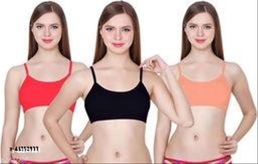 Calcados Women 6 Straps Soft Removable pads Bra combo 3