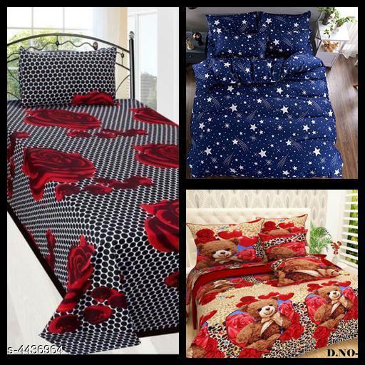 Myra Stylish Printed Double Bedsheets Combo