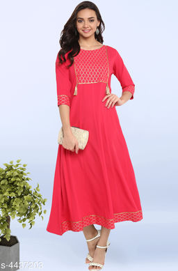 Women's Printed Pink Poly Crepe Dress