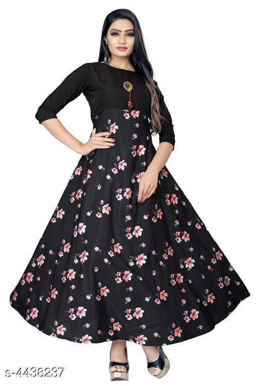Printed Multicolor Maxi Crepe Dress