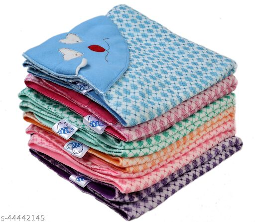 First Sleep Pack of 6 New Born Baby Blanket Kids Blanket Baby Warm Blanket for heavy winters AC Blanket Combo Pack of blankets baby Wraps Wrappers Swaddles Flannel baby Sheet Blanket-Multicolor Pack of 6