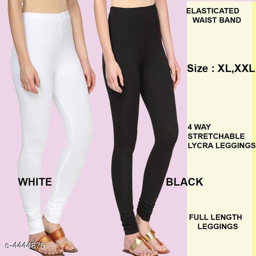 Pretty Solid Cotton Lycra Women Leggings Combo