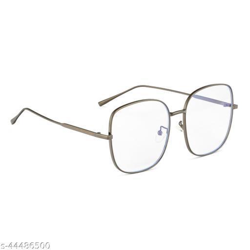 Royal Son Women Oversized Square Sunglasses Transparent Lens (Large) CHI00102-C1