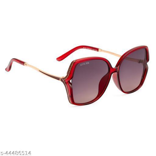 Royal Son Over-sized UV Protection Women Sunglasses Black Lens - CHIWM00113-C5