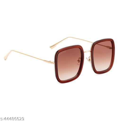 Royal Son Square UV Protection Women Sunglasses Brown Lens - CHIWM00112-C3