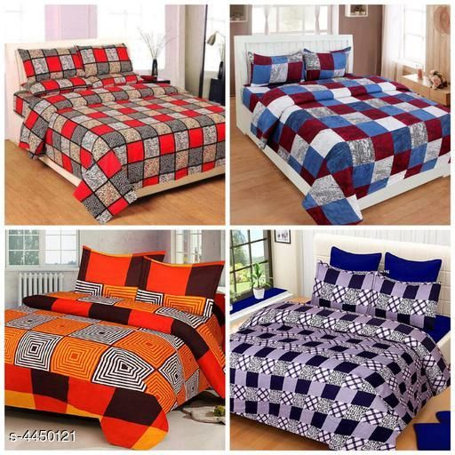 New Attractive Polycotton Double Bedsheets Combo