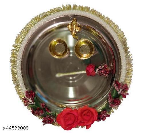 Raksha Bandhan Decorative Pooja Thali (Rakhi Thali) Silver
