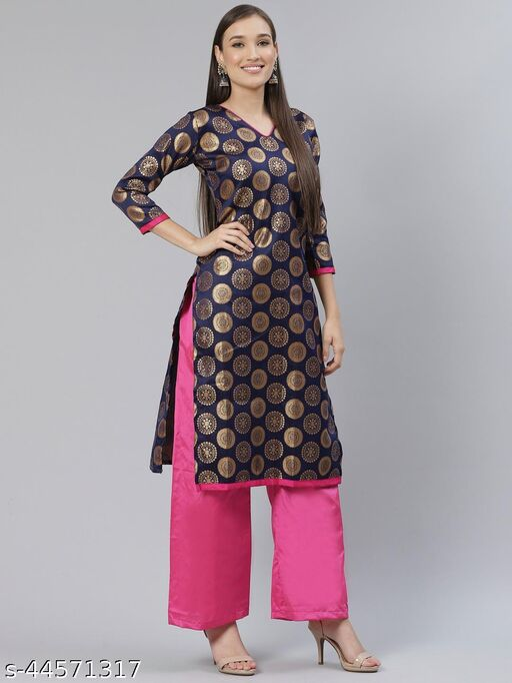 Attrective Banarasi Suit And Bottom