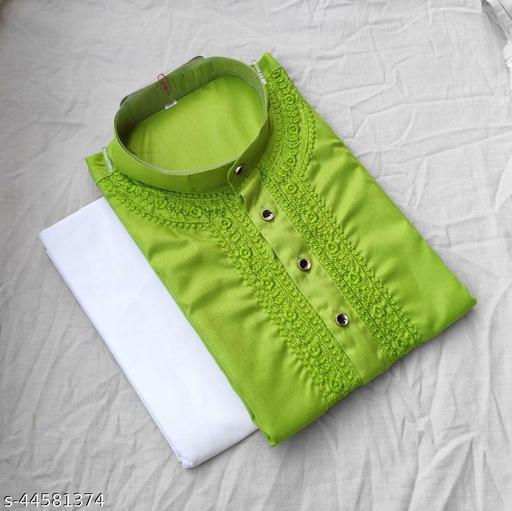 Baraji Chikankari Kurta Pajama Color Green