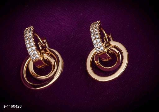 Rose Gold Plated Shimmering Glittering Earrings