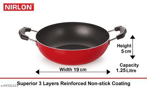 Nirlon Non-Stick Aluminium Tapper Pan Appampatram and Fry Apn Kitchen Cooking Combo Essential Set Offer