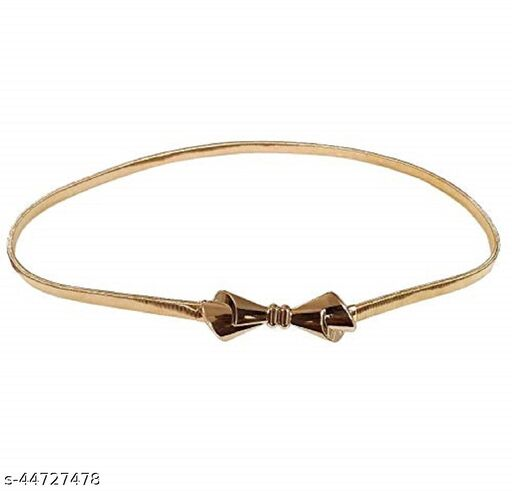 Golden Trendy Stylish Buckle Stretchable Waist Belt for Girls and Women