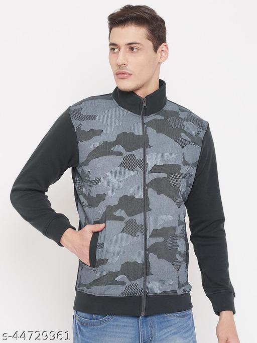 Livefree Mens High Neck Zipper Full Sleeve Sweatshirts