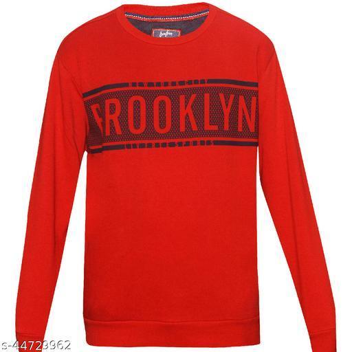 Livefree Mens Printed Round Neck Full Sleeve Sweatshirt