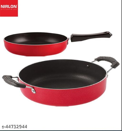 Nirlon Non Stick Aluminium Chemical Free Kitchen Item Set of 2 Pieces (FP12_CS24)