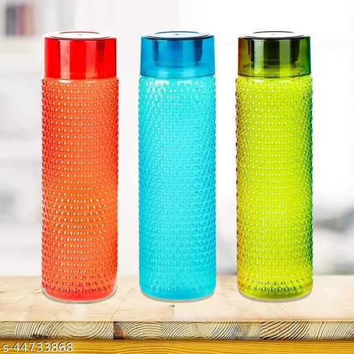 Pack of 3 Water Bottles For College/School/Office   Pack of 3 Bottles   Multicolor   1 lt each