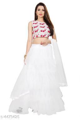 Attractive Taffeta Silk Women's Lehenga & Choli