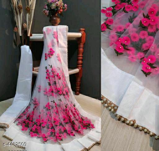 Aathmika Intricate Net Embroidery Sarees