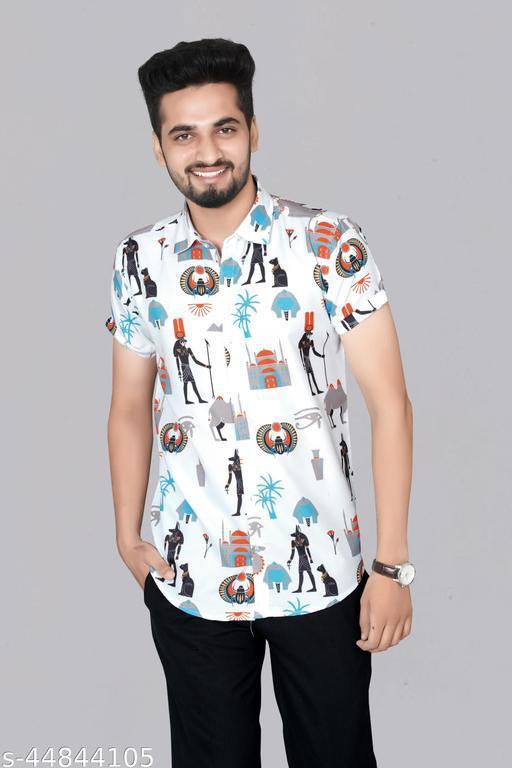 Trendy Digital Printed Fashionable Men's Designer Shirt.