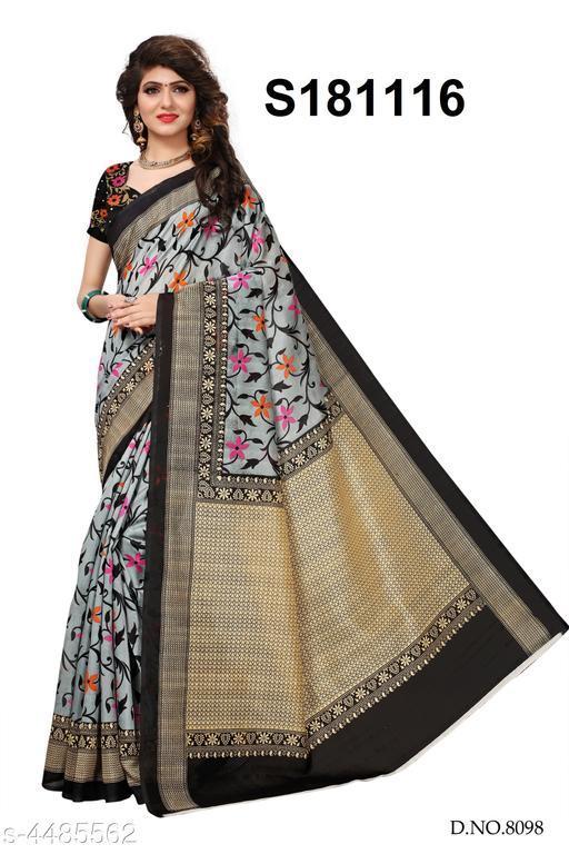 Trendy  Art Silk Women's Printed Work Sarees