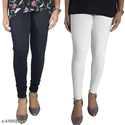 Churidar Cotton Leggings Pack of 2_(Black & White)