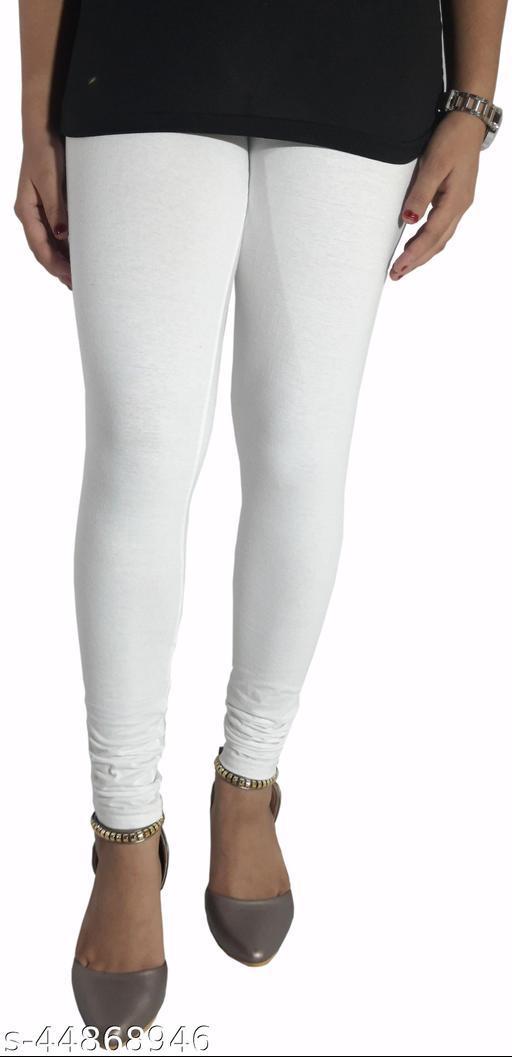 Churidar Cotton Leggings Pack of 2 (White)