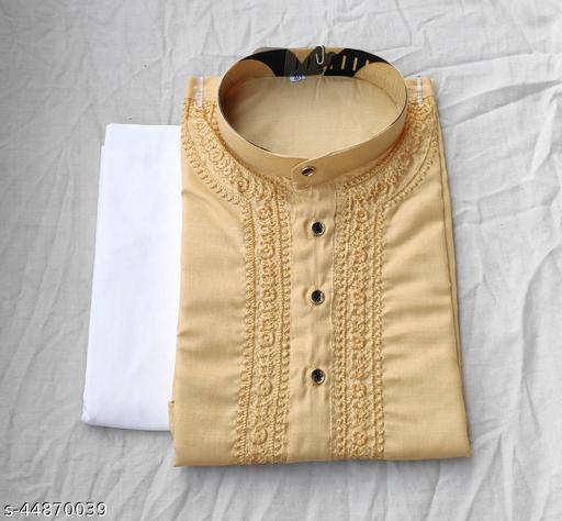 Men's Chikankari Kurta Pajama Color Cream