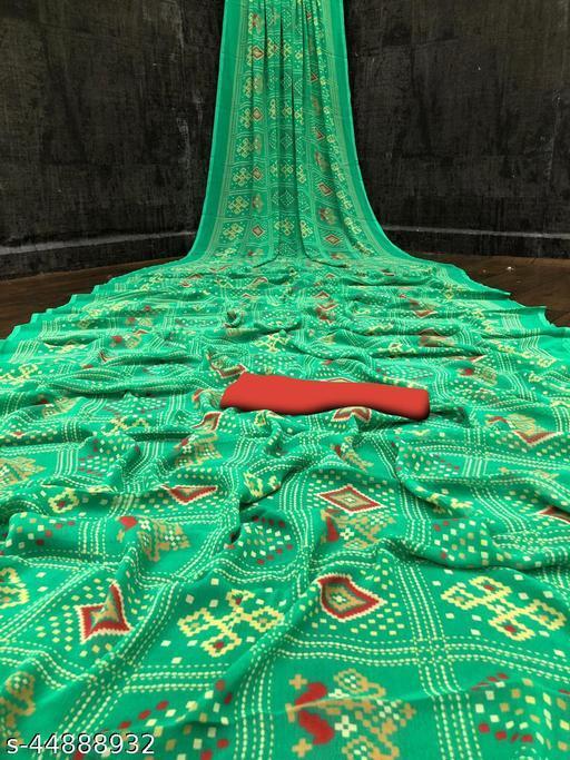 Heavy Satin Silk Digital Print Saree With Unsteach Blouse Pcs