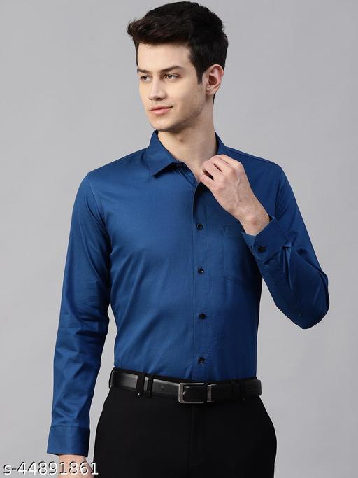 Dennison Men's Blue Formal Slim Fit Shirt